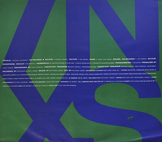 """INXS X 12"""" LP VINYL"""