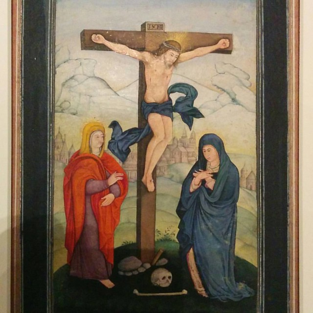 The Crucifixion with the Virgin and St. John #toronto #agakhanmuseum #india #allahabad #christianity #virginmary #jesus #stjohn