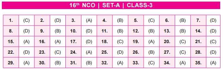 NCO Answern Key SET A class 3