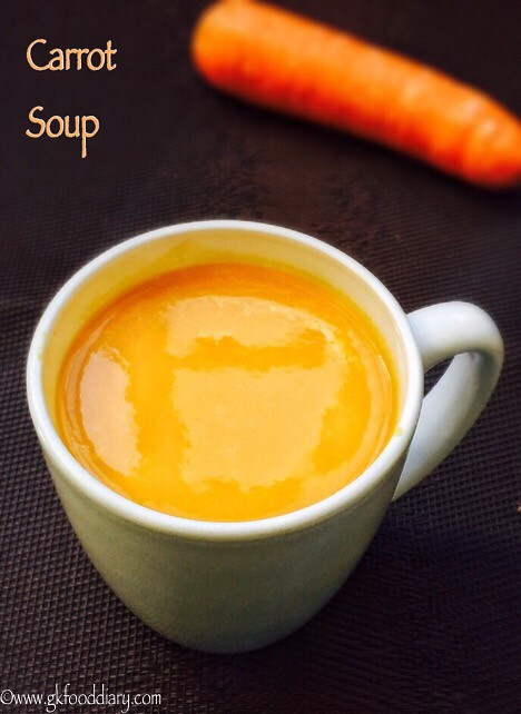 Carrot Soup Recipe for Babies, Toddlers and Kids3