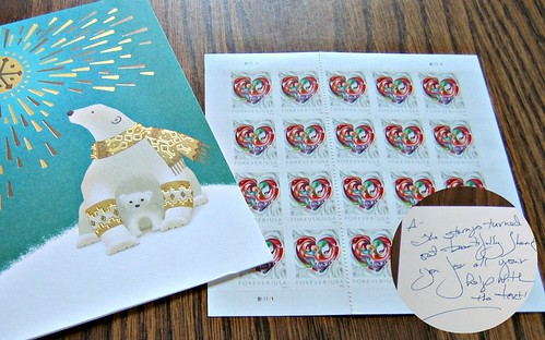 Christmas Card and Forever Stamps 2016