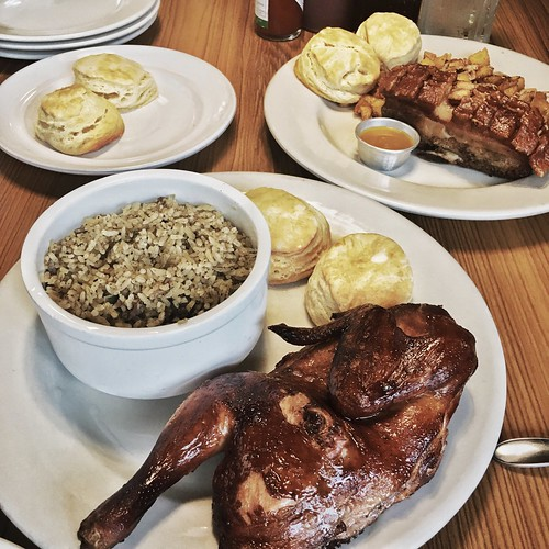 Ozark Diner Smoked Chicken and Ribs and Dirty Rice