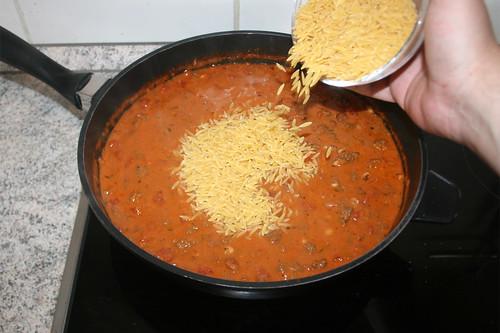 44 - Platte ausschalten & Kritharaki hinzufügen / Turn of cooking plate & add kritharaki
