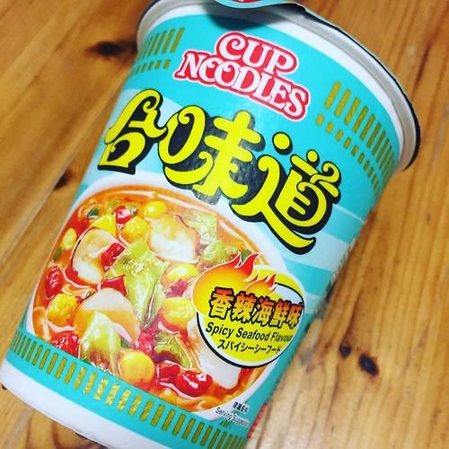 世界のカップヌードル総選挙で一位 香港 カップヌードル 香辣海鮮味 日本でも発売に #香港 #カップヌードル
