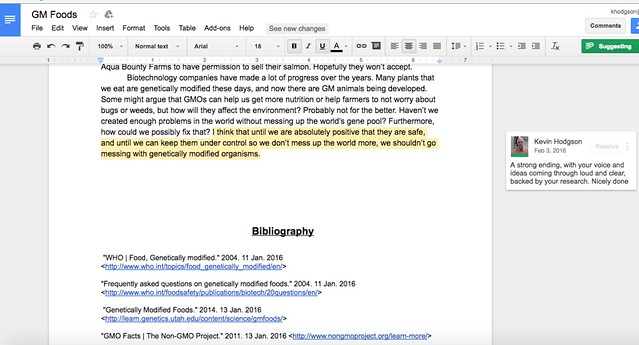 Using Google: Conferencing on Writing