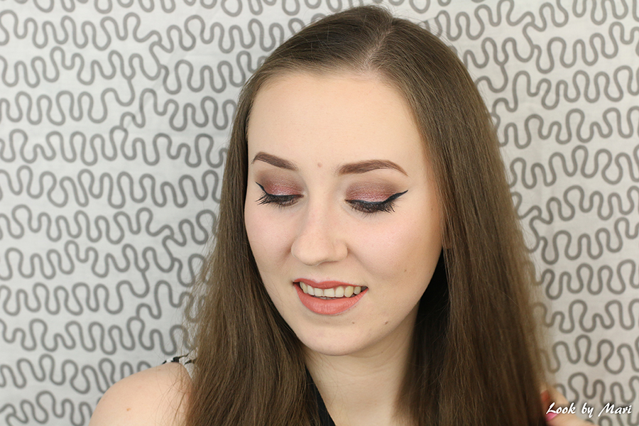 2 rose glitter makeup look tutorial