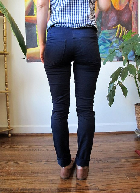 Navy Cotton twill Ginger Pants - back