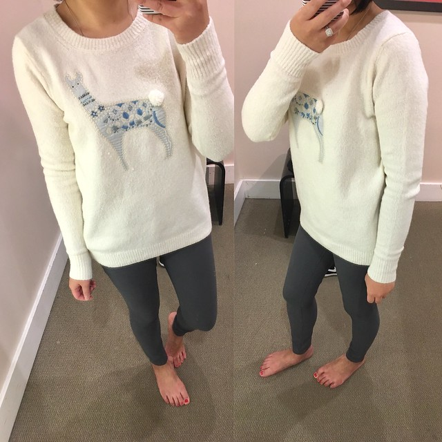 LOFT Llama Sweater, size S regular
