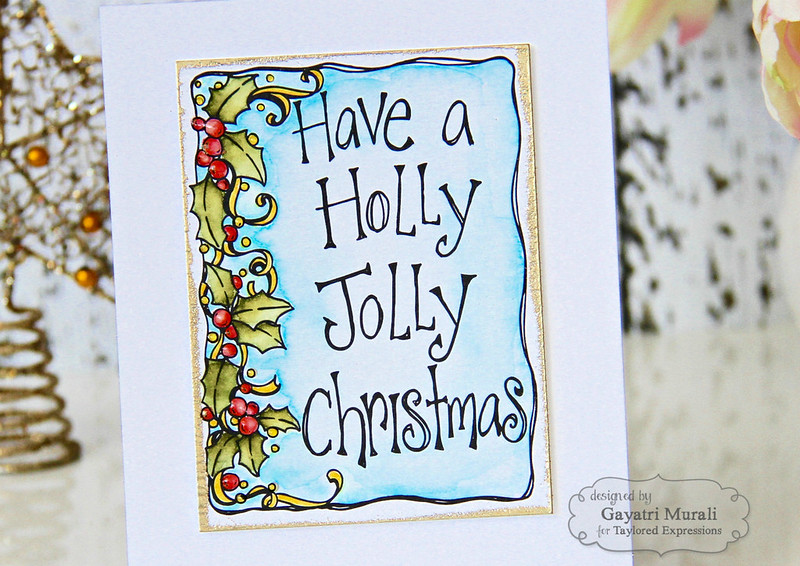 Holly Jolly Christmas closeup