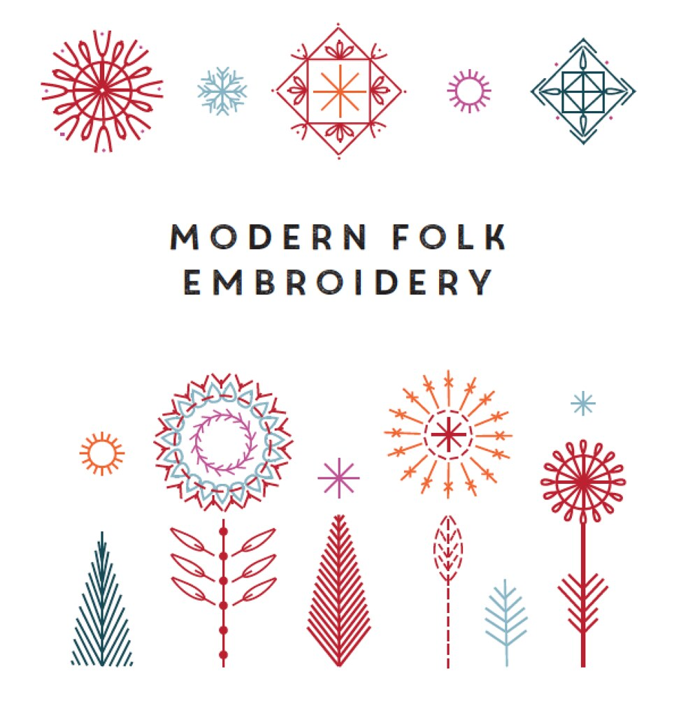 Modern Folk Embroidery // Book Review