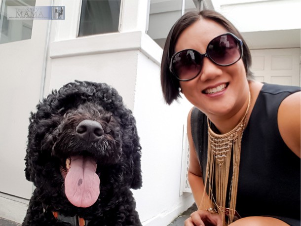 Selfie with Sunny, the Obama's Dog