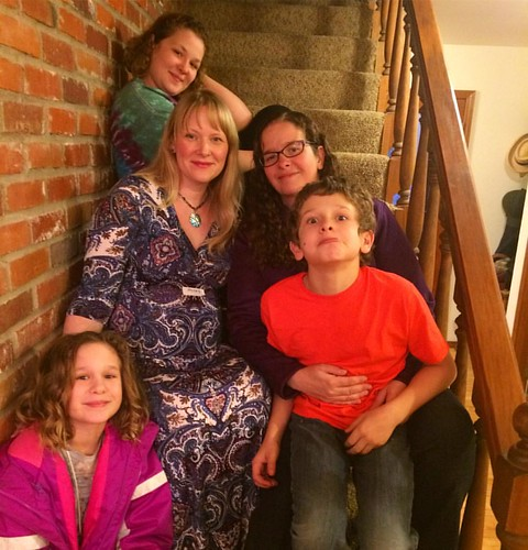Lisa, who has been one of my good friends for almost 20 years, and her three goofy/adorable children.