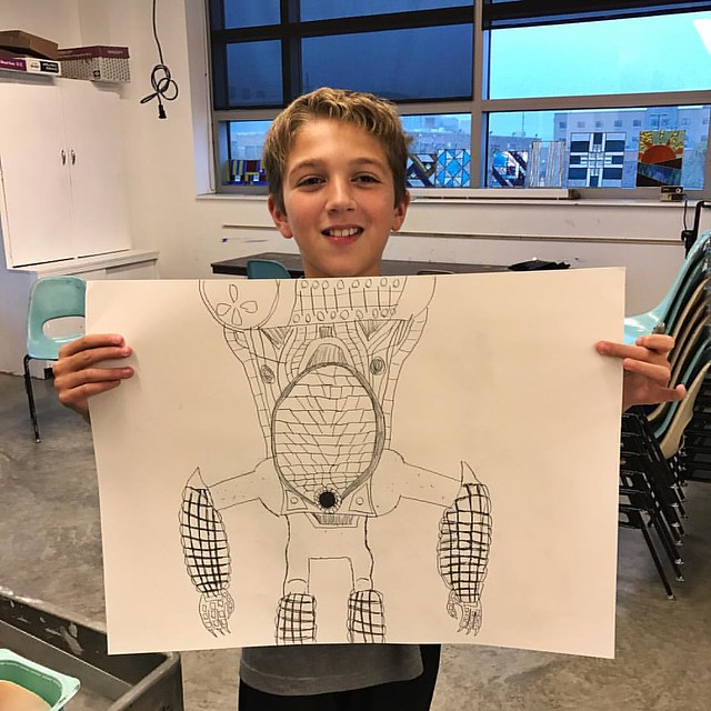 Ethan at his Art Class! Thanks @donna_be ! He is having a blast!