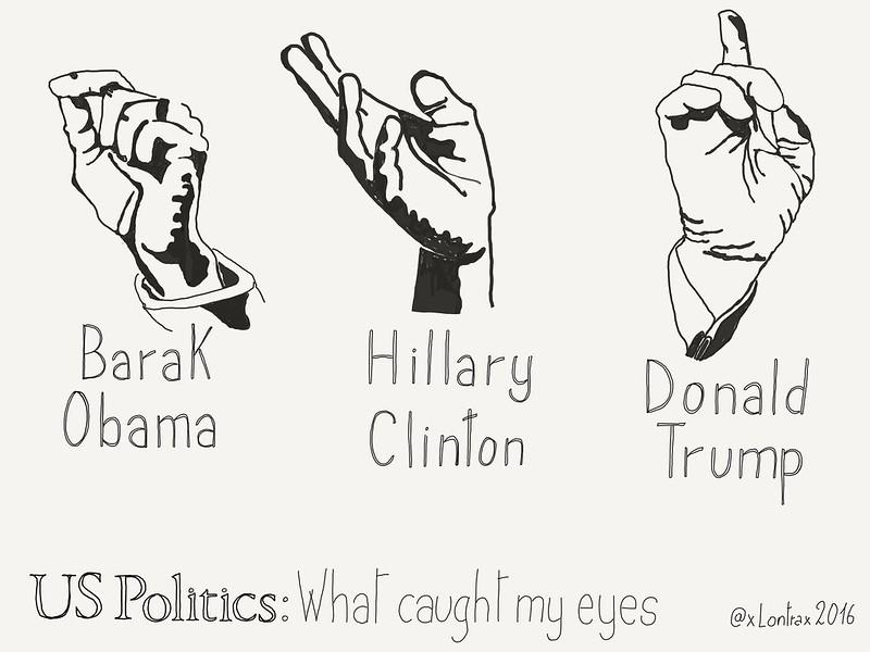 Hands of #UsPolitics - What caught my eyes