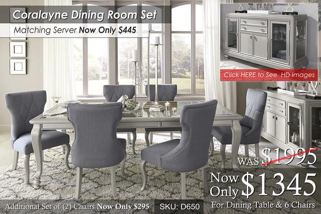 Coralayne Dining Set D650-35-01(6)-60-ALT