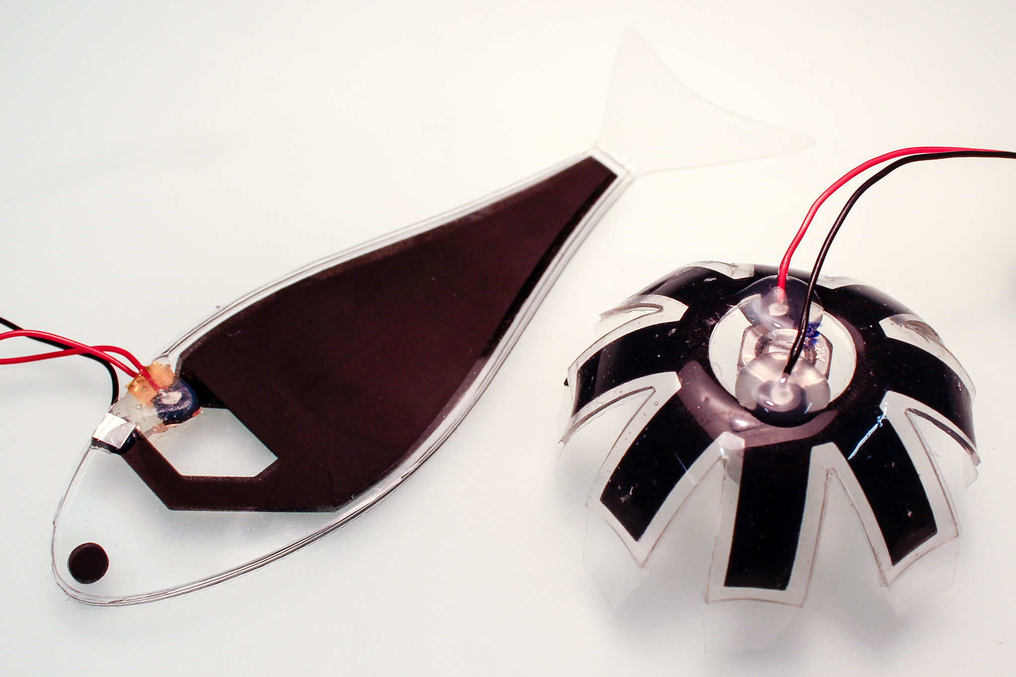 Dual-stiffness origami drone