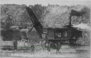 2016-11-27. Steam shovel postcard