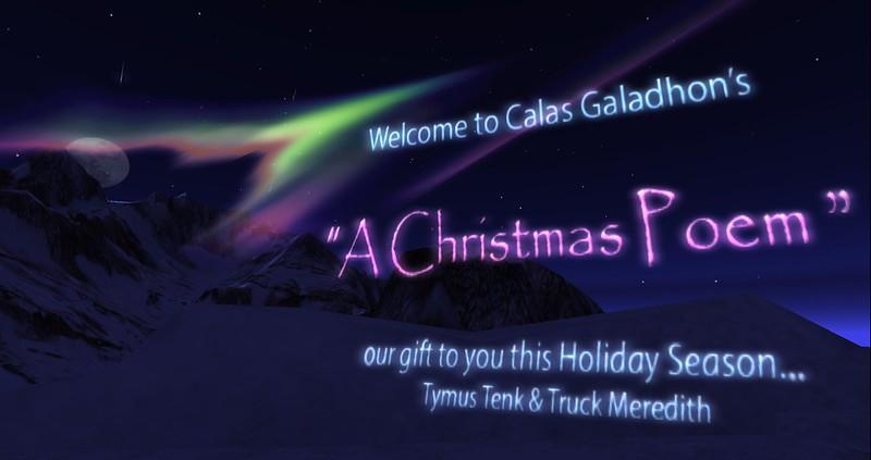 Calas Galahdon's A Christmas Poem