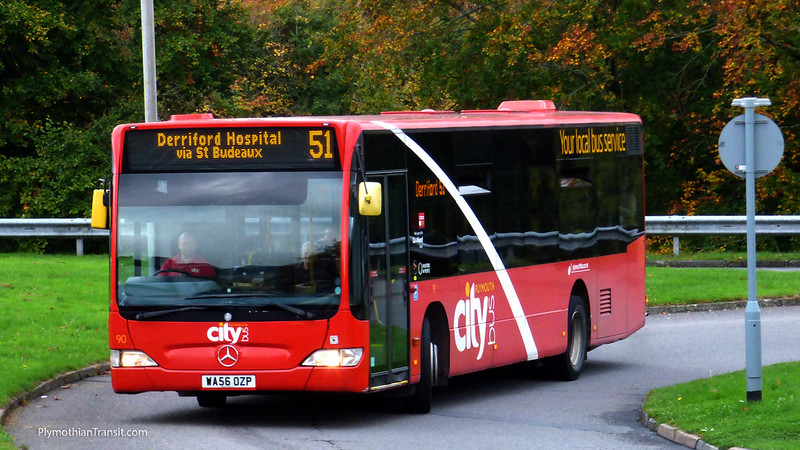 Plymouth Citybus 090 WA56OZP