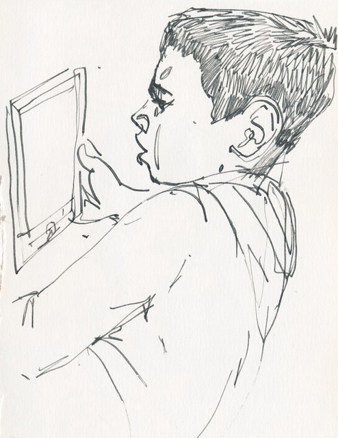 Sketchbook #100: Reading