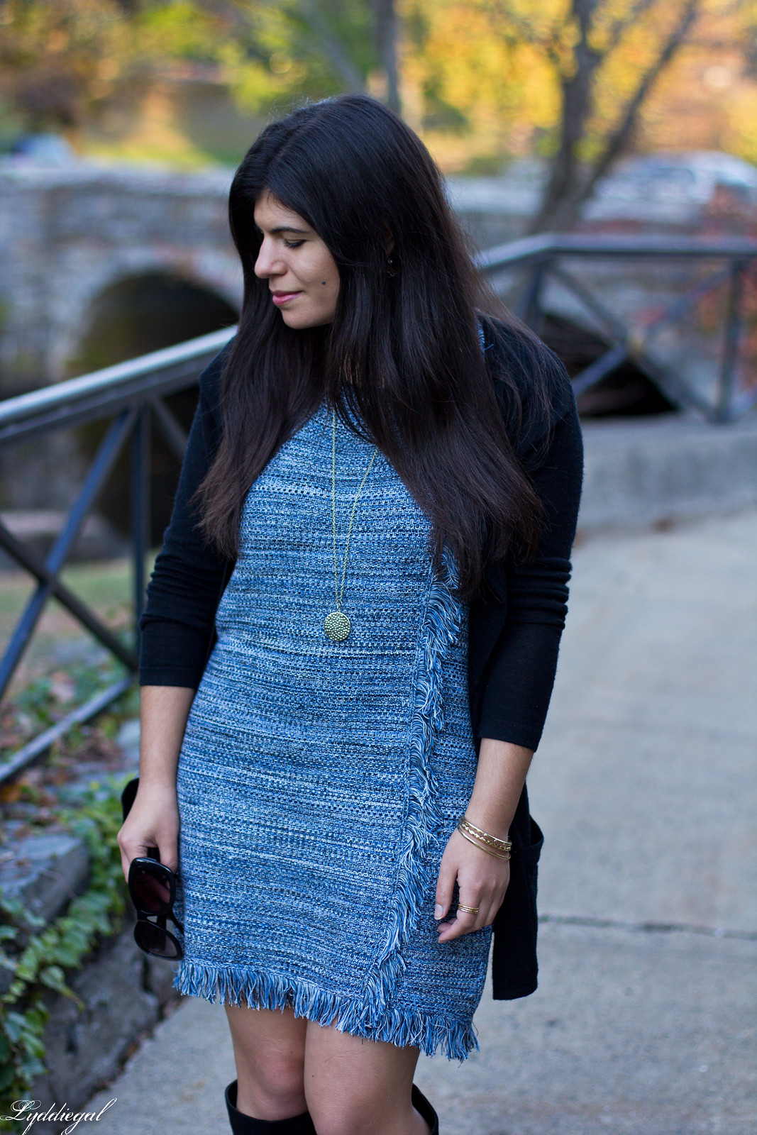 blue knit dress, black cardigan, black suede boots-7.jpg