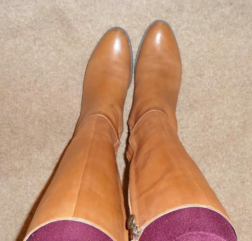 Geox tan knee boots