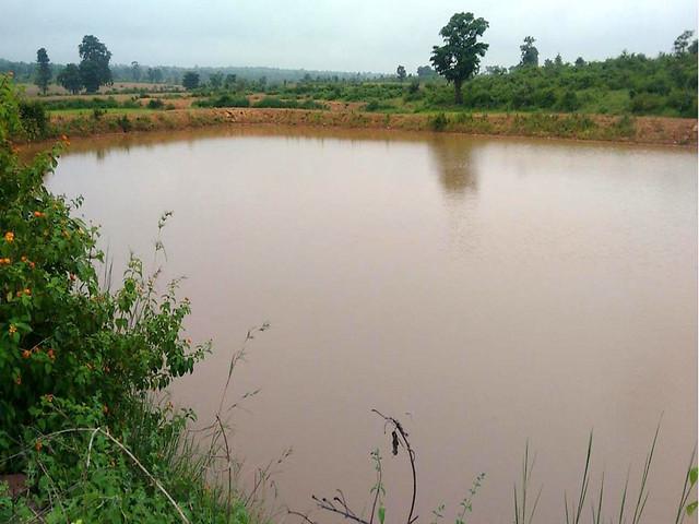 पन्ना जिले के गाँव में बना तालाब