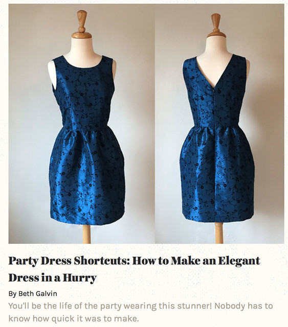 quick party dress