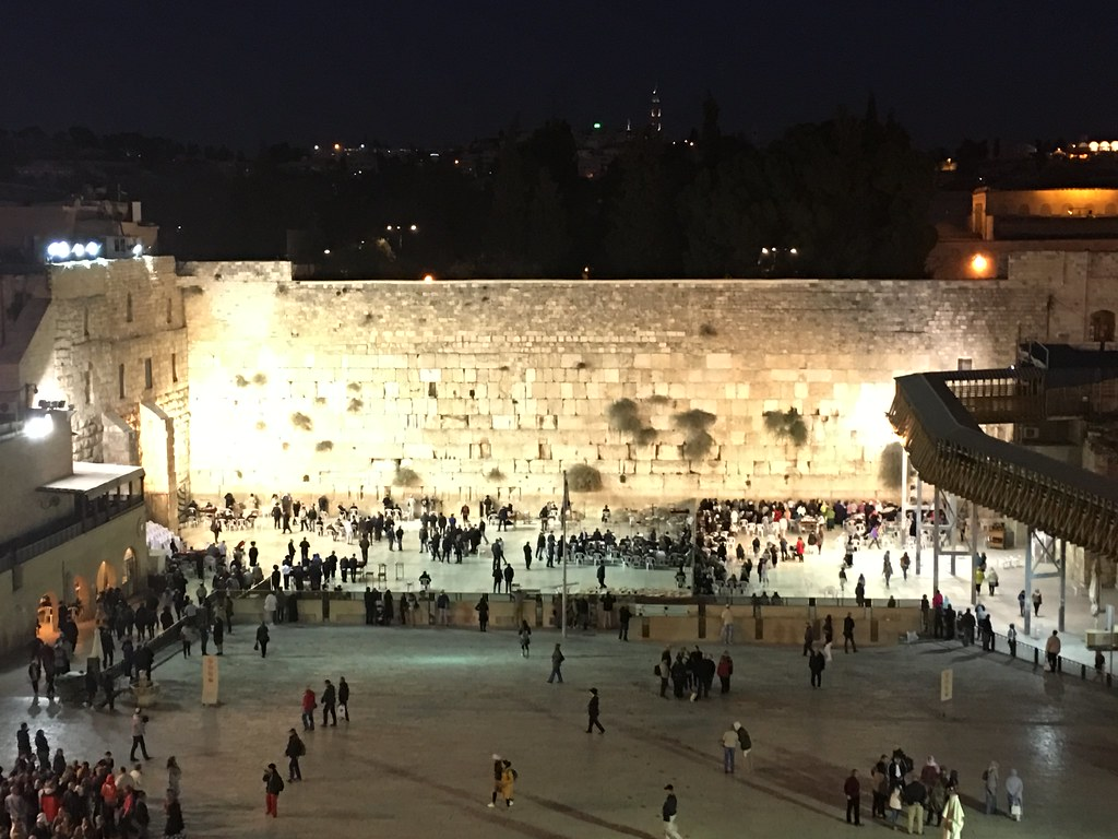 the Western Wall also known as the Wailing Wall