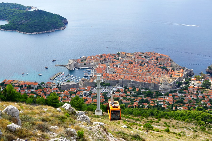 Lokrum Island from the Dubrovnik Cable Car
