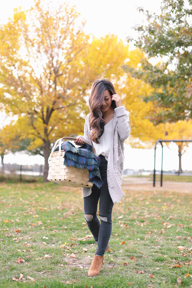 cable cocoon cardigan topshop jeans fall outfit