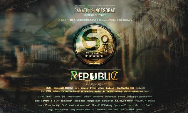 Poster Official: 6º Republic Event (November 2016)