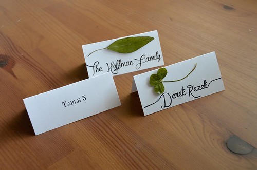 Botanical Escort Cards