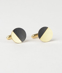 Tom Pigeon black and brass cufflinks