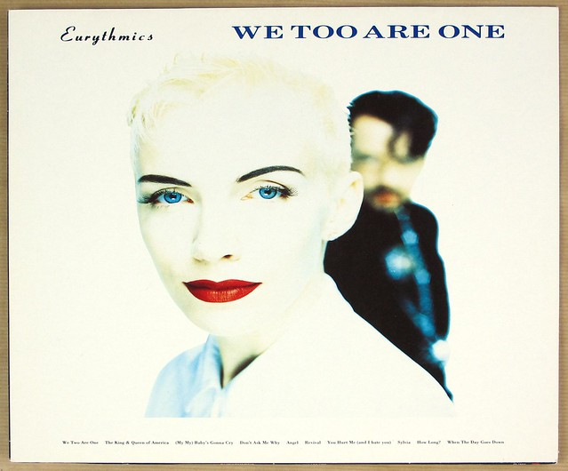 "EURYTHMICS WE TOO ARE ONE + POSTER 12"" LP VINYL"