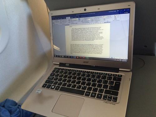 #AcWri on the plane from Dallas to Leon