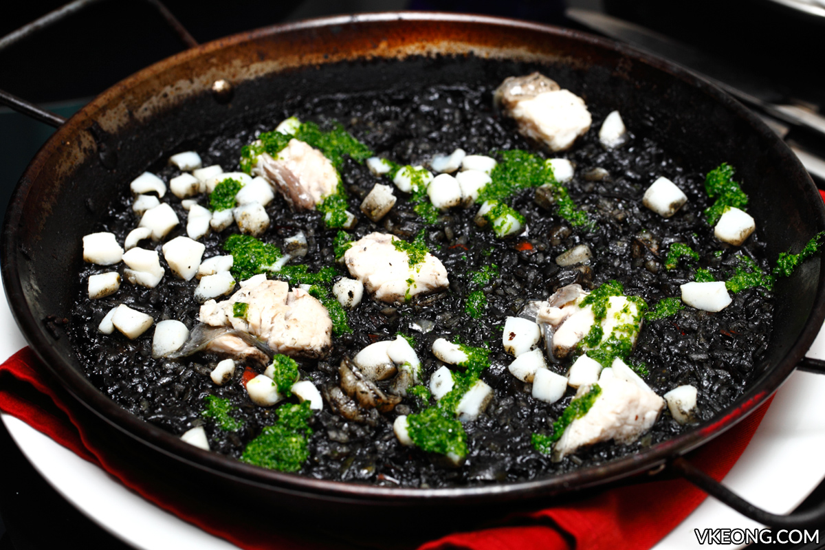 Jose Alonso Squid Ink Paella with Seafood
