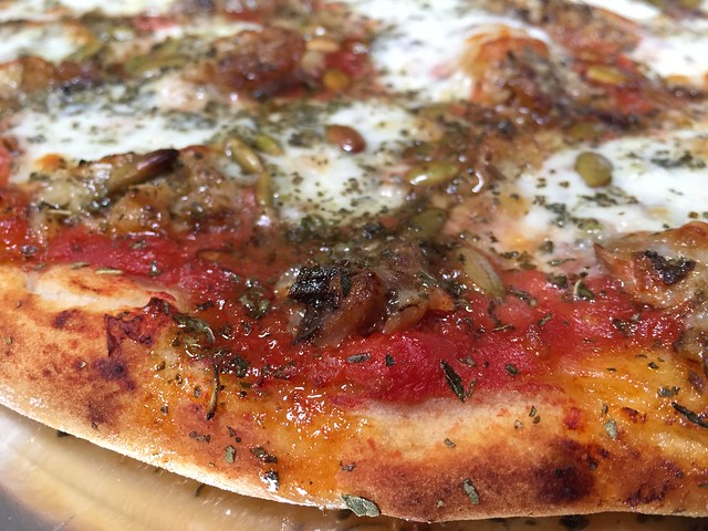 Sardine/Pumpkin Seeds Pizza