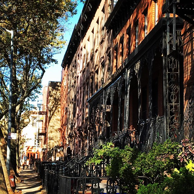 This little stretch of Sackett Street...#carrollgardens #brooklyn #mybrooklynlife #brownstone #brownstoneliving