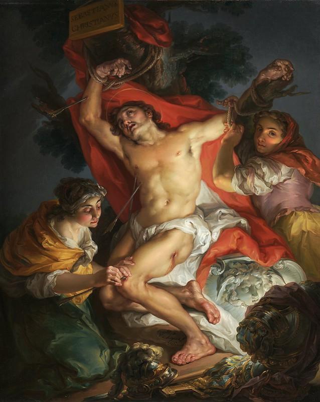 Vicente López y Portaña - Saint Sebastian Tended by Saint Irene (c.1800)