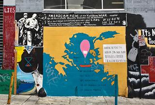 Shannon St Murals - Aegian Refugees mural