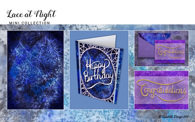 Lace at Night - Mini Collection by Squibble Design