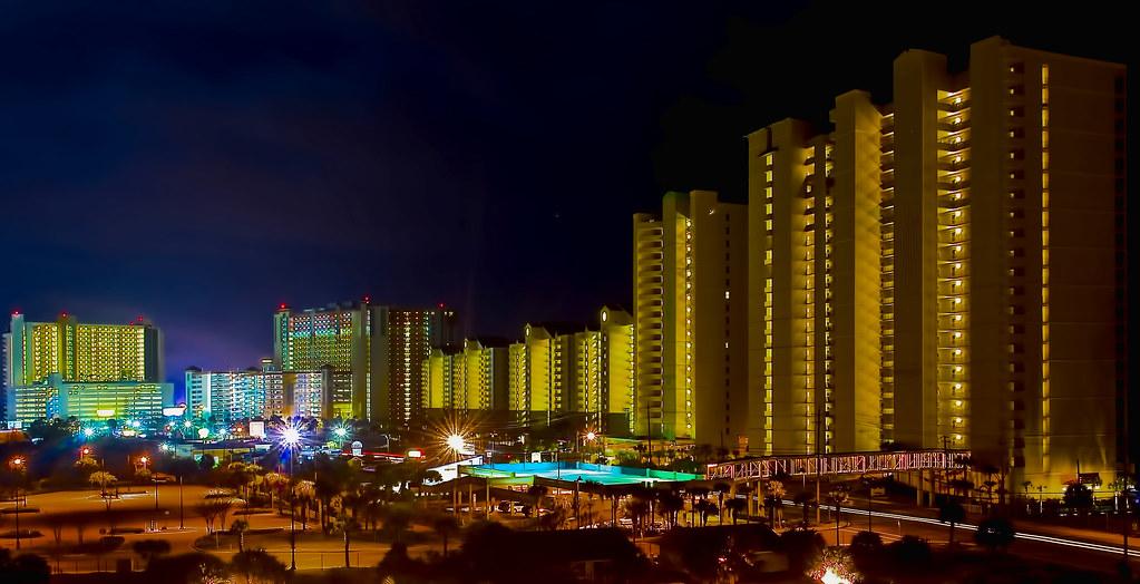 The skyline of Panama City Beach, Florida, U.S.A.