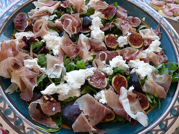 salade de figues et burrata