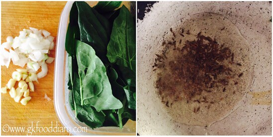 Spinach Soup Recipe for Babies, Toddlers and Kids - step 1