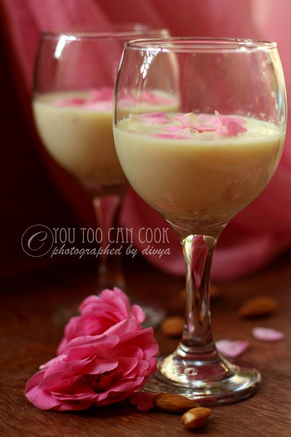 rose petals drink