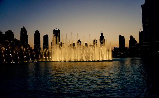 Fontänen i Dubai