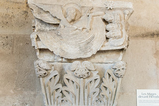 Kapitell 'Traum des Herodes', Kapitellsaal Cathédrale Saint-Lazare, Autun