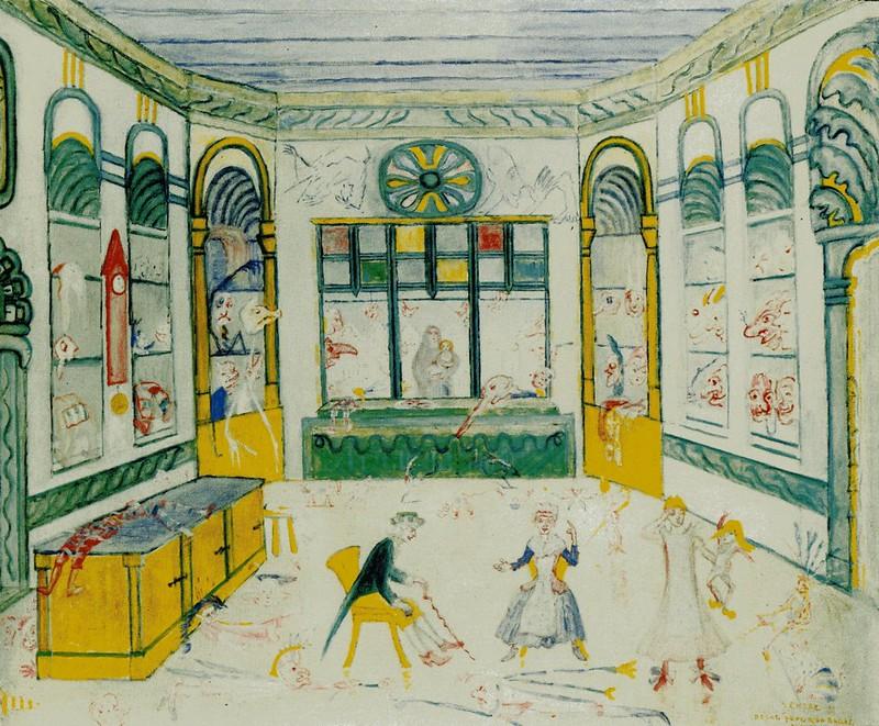 James Ensor - The Shop Of Grognelet Decoration For The Ballet Range Of Love, 1912