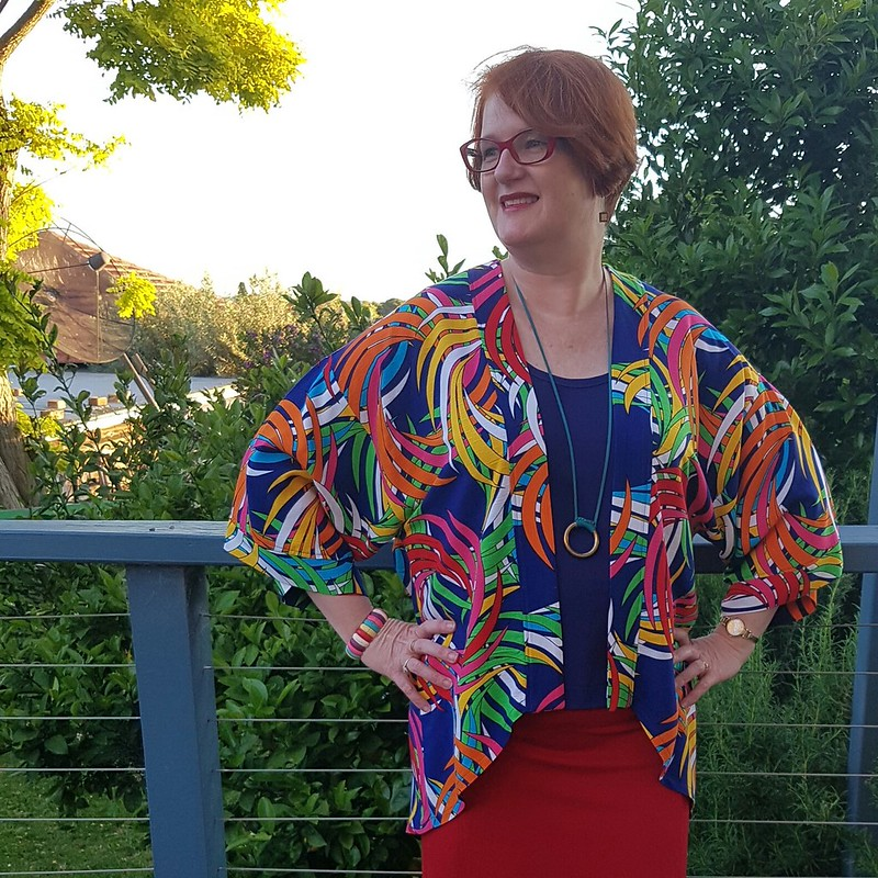 Simplicity 1318 jacket with Tessuti Kate top and Colette Mabel skirt